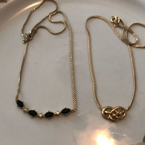 Lot of two vintage Avon necklaces both in EUC